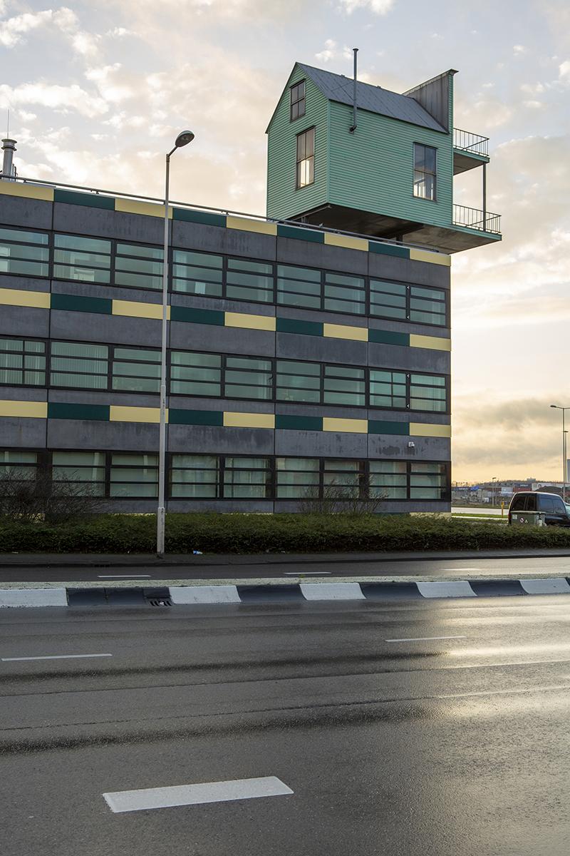 Foto Voor de Gek Follies in Nederland Folly Pioniershuisje, Rotterdam, John Körmeling/Benthem Crouwel